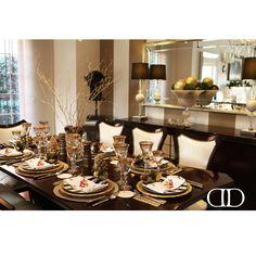 Holiday Table Setting: Surrounded by Dorya's Truva Side Chairs and stylish Deco Sideboard #SeasonsGreetings #ADoryaHoliday #Dorya #DoryaInteriors #DoryaHome #HolidayDinner #DiningTable #DiningChairs #Dining #Diningroom #InteriorDesign #Home #HomeDecor #Design #Stylish #Luxury #Trend #Trending #Inspirational