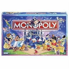 Monopoly Disney Edition - All of your favorite Disney characters are featured in classic Monopoly style for a family game that everyone can enjoy.
