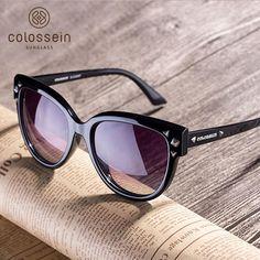 7fff8f1f135 COLOSSEIN Polarized Sunglasses Women Street Fashion New Arrival Sun Glasses  Eyewear Oversized Black Frame TAC Polarized