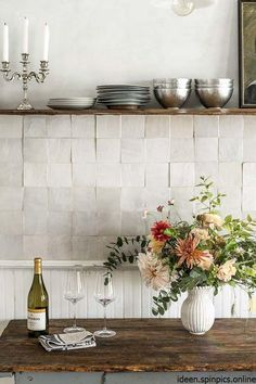 This backsplash trend is actually totally timeless . , This backsplash trend is actually totally timeless . This backsplash trend is actually totally timeless , Kitchen Interior, New Kitchen, Kitchen Decor, Awesome Kitchen, Stylish Kitchen, Handmade Tiles, Handmade Home Decor, Home Design, Interior Design