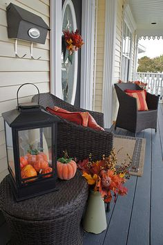 Fall front porch - these chairs would fit