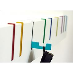 Buy Symbol Coat Rack from DESU DESIGN. During the coatless summer months the DESU DESIGN Symbol coat rack hangs as a purely aesthetic piece, as the hook. Coat Hanger, Coat Hooks, Towel Hooks, Rack Design, Wall Hooks, Ikea Hooks, Wall Hanger, Bathroom Hooks, Shelving