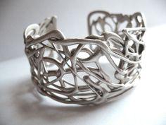 Sterling silver organic bracelet by AnnieLesperance on Etsy, $400.00