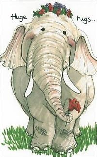 Big on sharing. Huge hugs to all. A trunk full of flowers to make you smile and love kindness wishes. Image Elephant, Elephant Love, Elephant Art, Animal Drawings, Cute Drawings, Baby Animals, Cute Animals, Hug Quotes, Elephant Illustration