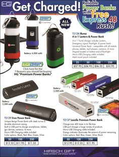 Get Charged with Premium Power Banks from Hirsch Gift! Get it Fast with Express 48 Hour Rush Service.  Check out the 7 Reasons You Should be Buying HG Premium Power Banks. Share the end user safe video. @hirschgift #powerbanks #chargers