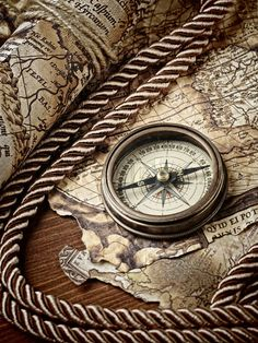 Map and compass Map Tattoos, Sleeve Tattoos, Tatoos, Vintage Labels, Vintage Maps, Sextant Tattoo, Map Compass, Vintage Compass, Pirate Life
