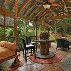 Rustic Outdoor Kitchens, Outdoor Kitchen Design, Outdoor Rooms, Covered Outdoor Kitchens, Indoor Outdoor, Outdoor Kitchen Plans, Outdoor Games, Outdoor Dining, Screened Porch Designs