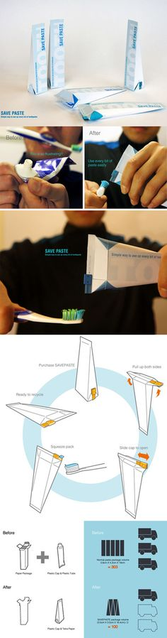 Save Paste - brilliant packaging and problem solving