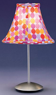 Lumisource Retro Table Lamp with Cherry Pattern Shade