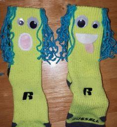 """""""Crazy Sock Day"""" socks my son and I made. Simple and fun! -Leah Ortiz"""