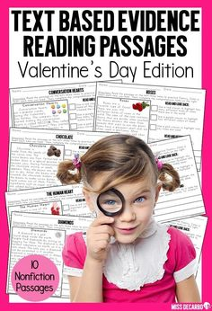 These Valentine's Day reading passages will get your students to USE the text and PROVE their answers! Included in this special edition reading pack for comprehension and fluency are 10 text-based evidence passages with a Valentine's Day theme! Fluency Activities, Vocabulary Activities, Reading Activities, Educational Activities, Reading Lesson Plans, Reading Lessons, Reading Skills, Guided Reading, Reading Passages