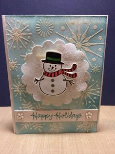{{my own little corner of the web}}: Cute snowman card and video!