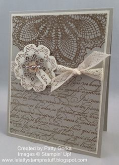 I love this card and have everything I need to make it!