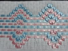 Hardanger Embroidery, Ribbon Embroidery, Embroidery Designs, Swedish Weaving, Contemporary Design, Macrame, Needlework, Stitch, Fabric