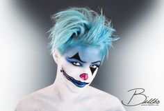 Awesome blue clown by makeupgeekdeluxe!