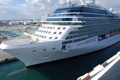 Celebrity Solstice docked in Port Everglades - #cruise