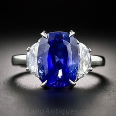 6.48 No Heat Ceylon Sapphire and Diamond Ring.  The best money can buy, but it will have to be someome else's money.  Sigh...