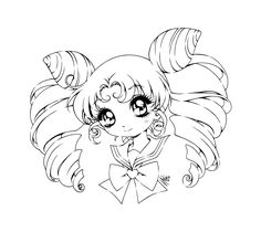 Cute Anime Chibi Coloring Pages Chibi Reverse Annie By