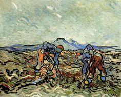 Peasants Lifting Potatoes 1890 Vincent van Gogh