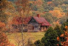 Lovely cabin nestled in the mountains!!!!!!!