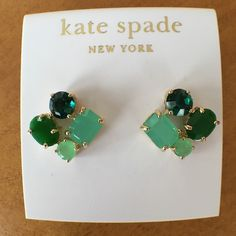 Kate Spade Green Multi Cluster Stud Earrings. Kate Spade Green Multi Cluster Stud Earrings. 14kt Gold Filled. Comes with a Kate Spade pouch. Brand new, never worn. Beautiful shades of green. NO TRADES. kate spade Jewelry Earrings