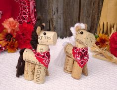 Wine Cork Horses as seen on etsy.com