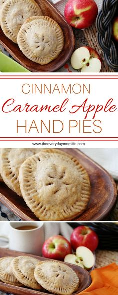 Cinnamon Caramel Apple Hand Pies Are A Fall Recipe Necessity! Make these for dessert or just as an afternoon snack to eat with friends and family. Delicious!