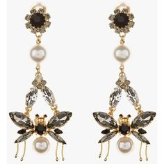 Drop Bee Earring (€300) ❤ liked on Polyvore featuring jewelry, earrings, pearl jewelry, pearl earrings, honey bee jewelry, pearl earrings jewellery and white pearl earrings