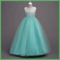 Summer Flower Girl Dress Top grade 3-16 yrs baby princess Dresses for girls wedding party vestidos infantis Kid Girls Clothes