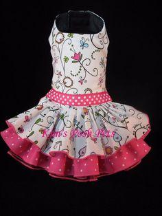 Floral Vine Dog Dress XS _ #HandMade byKim _ Kim's Posh Pets