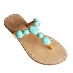 turquoise sandal