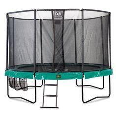 leveä trampoliini turvakehällä on täydellinen ratkaisu lapsille!