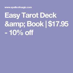 Easy Tarot Deck & Book | $17.95 - 10% off