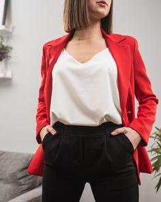 Outfit  Ascella.pl wiosna 2020 moda damska fashion nowa kolekcja Blazer, Jackets, Outfits, Women, Fashion, Down Jackets, Moda, Suits, Fashion Styles