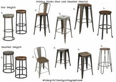 whimsy girl: Friday Finds: {Bar and Counter Stools}  Industrial, rustic, farmhouse barstools with source links.