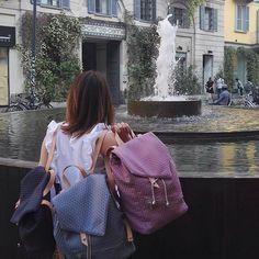 Bye Bye Milano  #milano #mandulis #backpack #accessoryaddict #accessorylover #milanolife #milanomoda #handmadeinitaly #corsocomo #corsocomo10 #backpacks #pinkbackpack #zaini #wo_man_event #unisexbackpack #spring #summer2017 #fabricaccessories #toscanyleather #shoppingbags #minimaldesign #bagdesign #bagdesigner