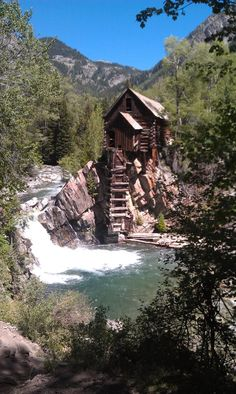 the old mine up valley on the crystal river around marble colorado