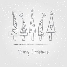 Xmas tree doodle for envelopes. stock vector ✓ 11 M images ✓ High quality images for web & print Christmas Tree With Snow, Christmas Art, Winter Christmas, All Things Christmas, Christmas Ornaments, Christmas Design, How To Draw Christmas Tree, Xmas Trees, Merry Christmas Card