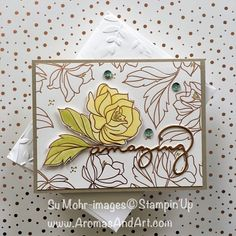 Springtime Foils Celebrate You Birthday Card - Aromas and Art Foil Paper, Paper Cards, Leaf Cards, Making Greeting Cards, Glitter Cards, Pretty Cards, Card Sketches, Sympathy Cards, Flower Cards