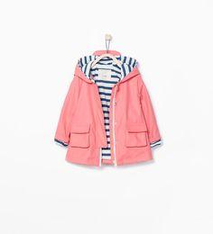 Image 1 of Peaked hood raincoat from Zara