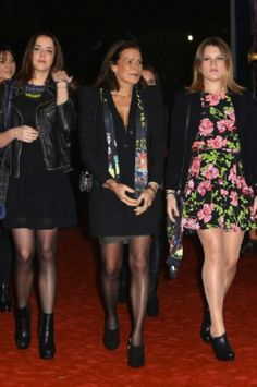 Princess Stephanie of Monaco and daughters Pauline Ducruet (L) and Camille Gottlieb (R) attend the 2014 - 38th International Circus Festival - Day 2, in Monaco.