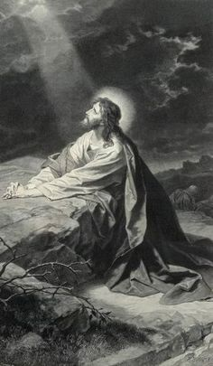 Jesus praying in the Garden of Gethsemane. This reminds me of my grandmothers home where she hung this same picture above her piano. Pictures Of Christ, Religious Pictures, Religious Art, Image Jesus, Agony In The Garden, Religion, Jesus Christus, Biblical Art, Jesus Is Lord
