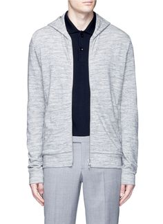 THEORY 'Danen H' zip French terry hoodie. #theory #cloth #hoodie