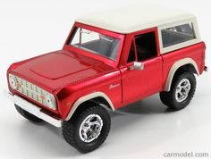 JADA 97824R Scale 1/24  FORD USA BRONCO 1973 RED MET WHITE