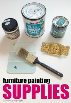 How to paint laminate furniture in 3 easy steps! Great tips!