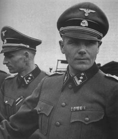 """5sswiking: """" Wiking Division officers at the beginning of Operation Barbarossa in Ukraine, 1941. The man in the foreground is an SS-Hauptsturmführer, while on his right is an SS-Obersturmführer. """""""