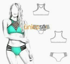 Mccalls Chicas patrón de costura 7168 Bikini Trajes de baño mccalls - 7168-M