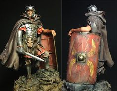 Late second/early third century figure. Fantasy Armor, Medieval Fantasy, Ancient Rome, Ancient Art, Roman Armor, Roman Warriors, Roman Legion, Armadura Medieval, Roman Soldiers