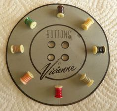 8 Vintage REALISTIC SEWING SPOOL Buttons Thread Spool