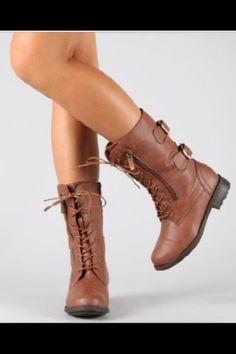 Cute combat boots!